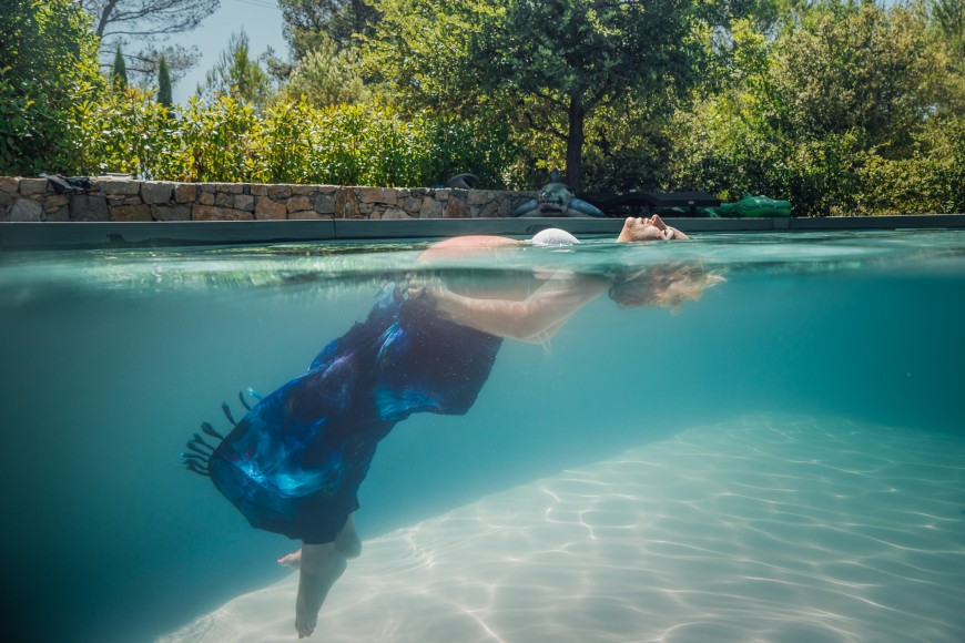 Séance photo grossesse underwater Nice (3)