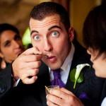 Mariage entre les gouttes sur la Côte d'Azur