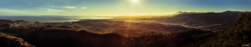Panorama sur la Côte d'Azur