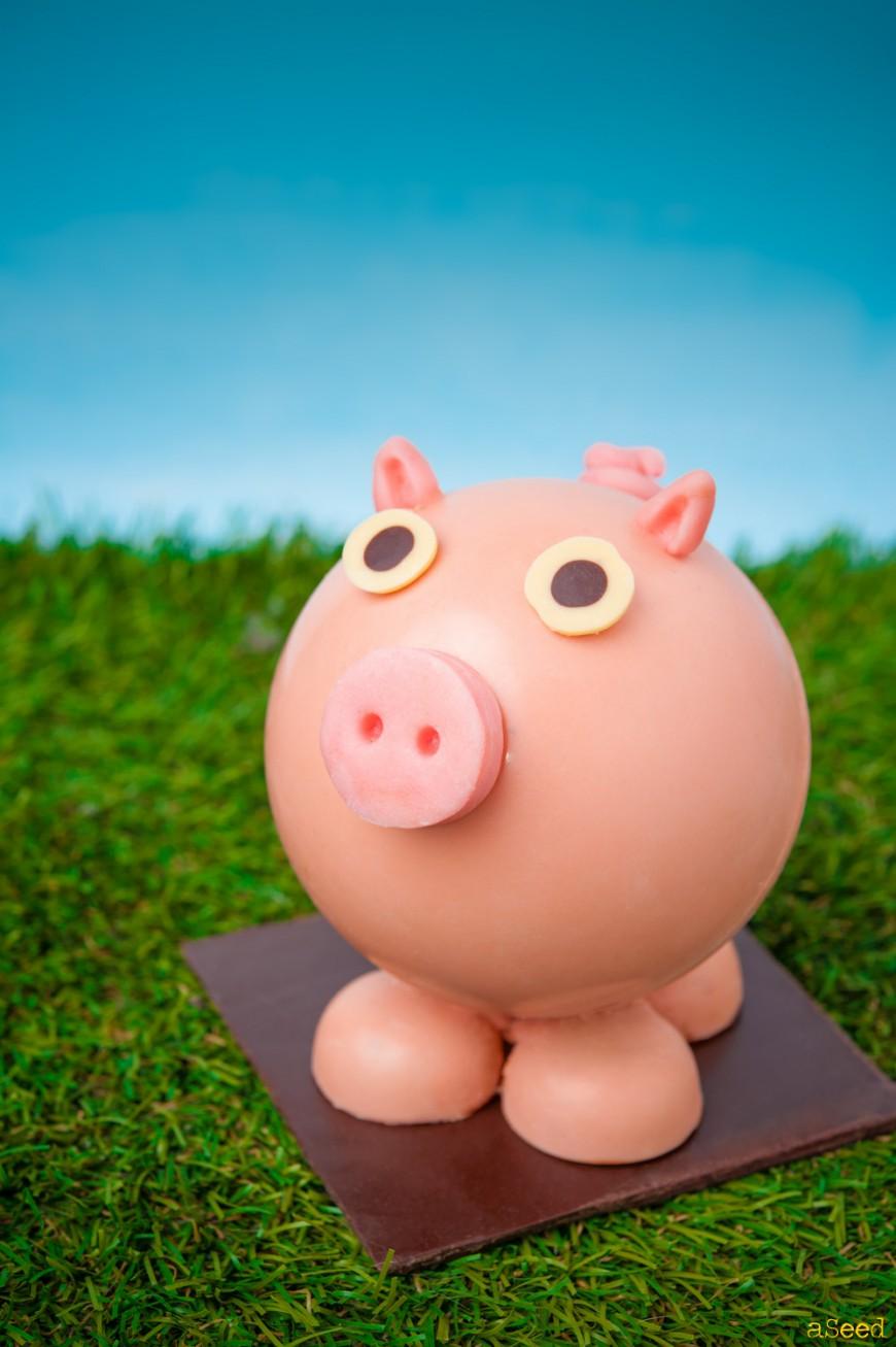 Cochon en chocolat