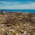 La Côte d'Azur vue du Col de Vence