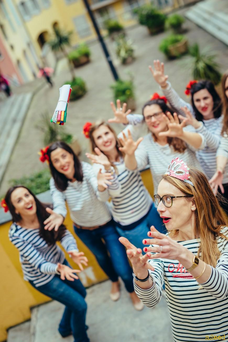 EVJF Vieux-Nice lancé de bouquet