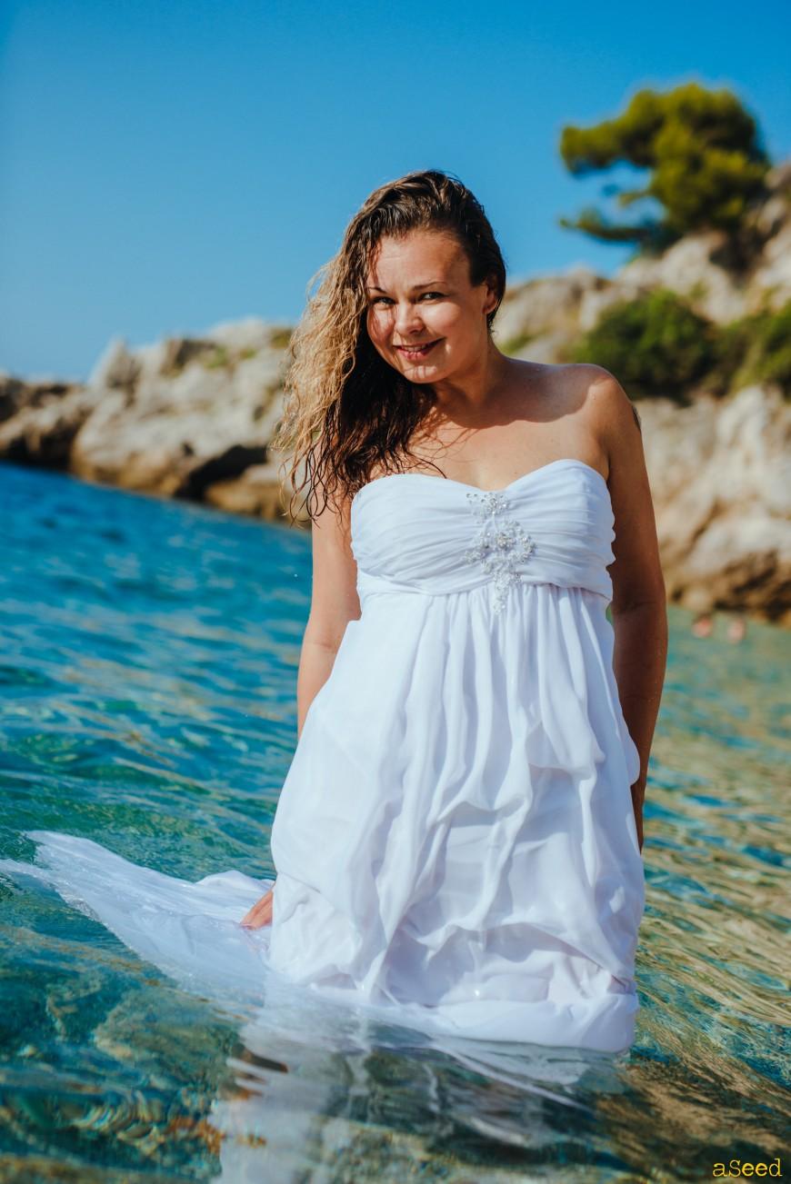 Trash The Dress à la Plage sur la Côte d'Azur