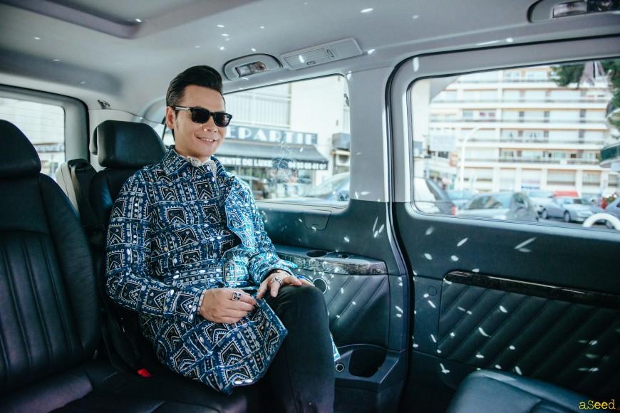 Cannes Festival dans la voiture officielle