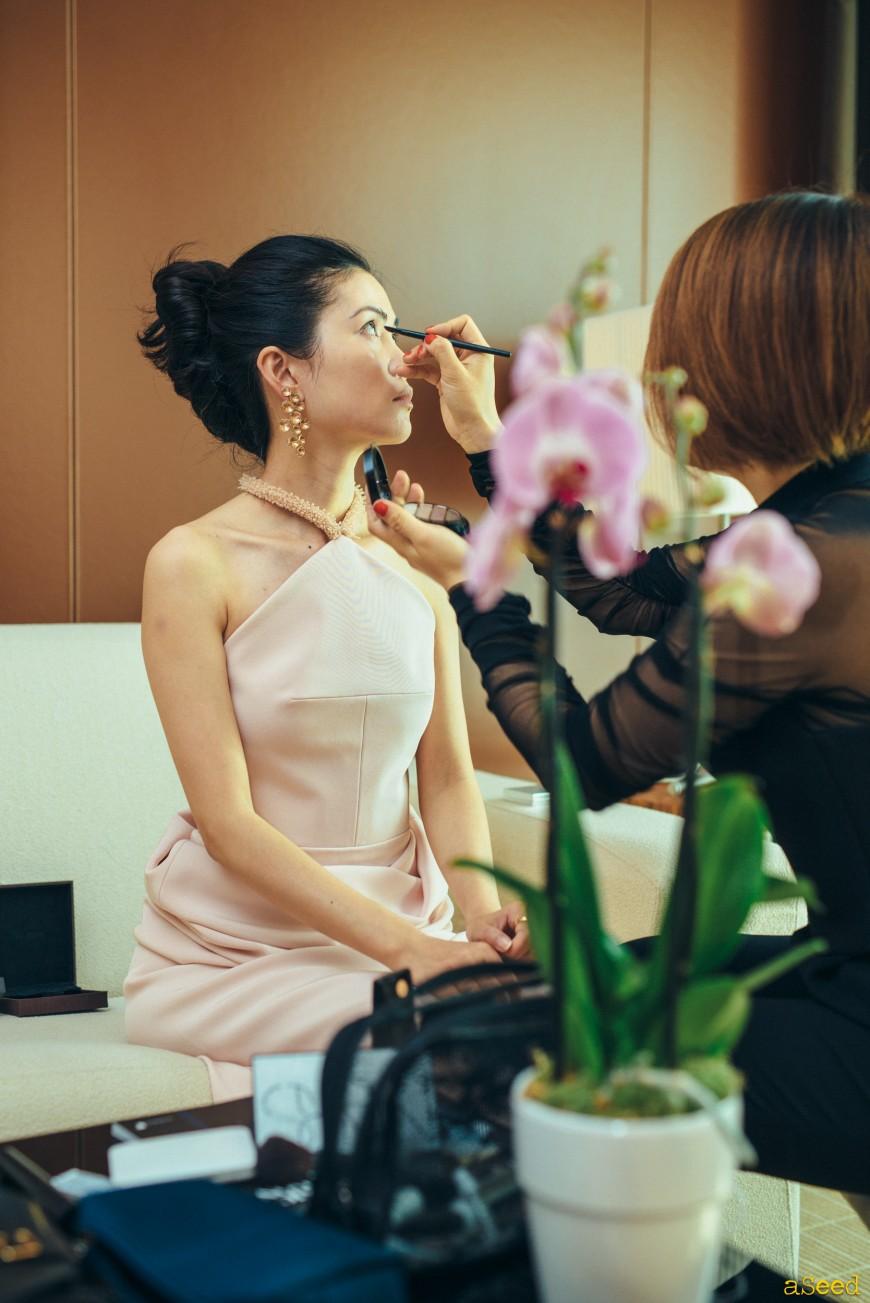 Preparation Make up au JW Mariott Cannes