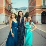 3 russes à Nice pour une séance photo entre copines
