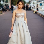 Festival du film shooting La Croisette robe Dior