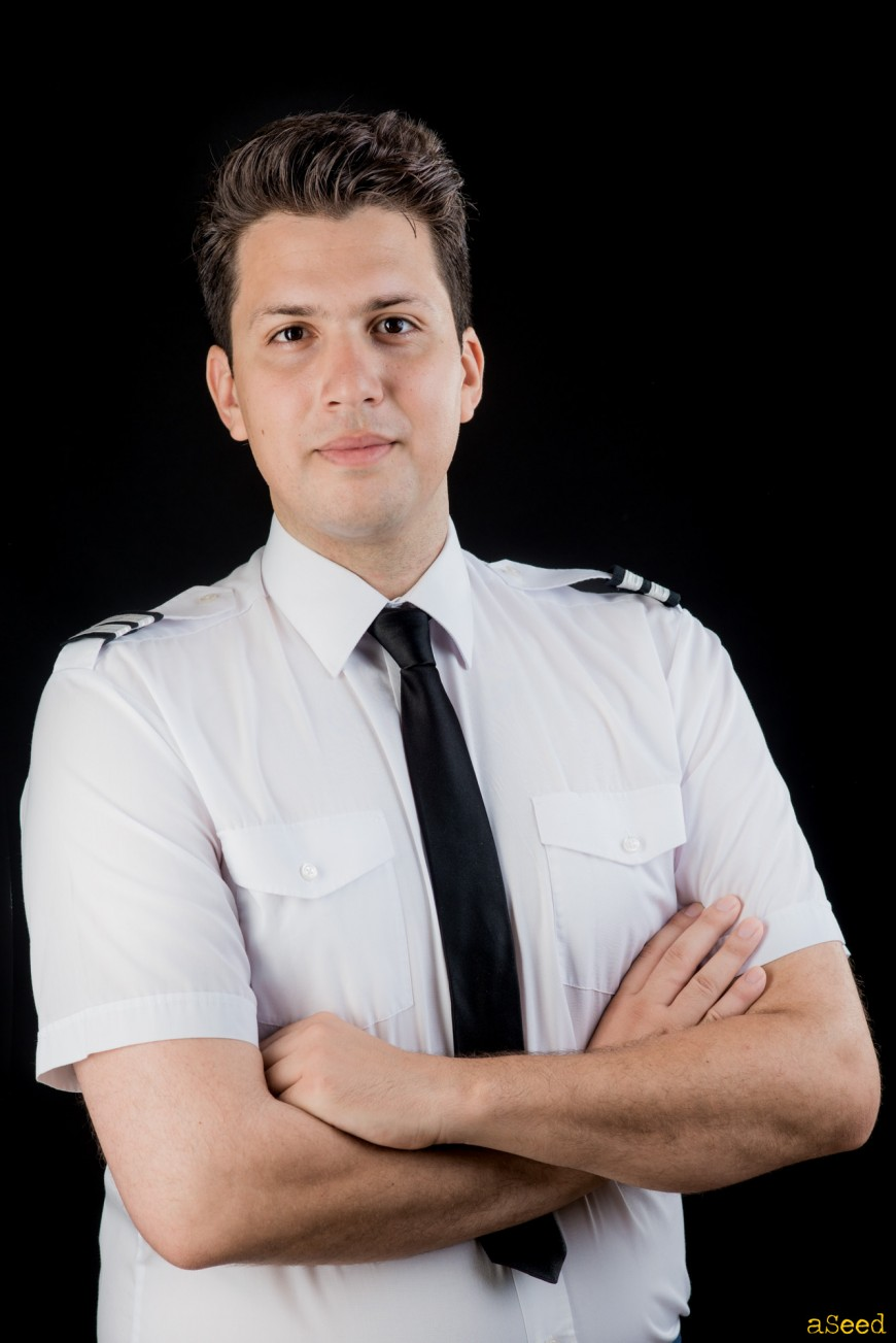 Portrait studio pilote d'avion
