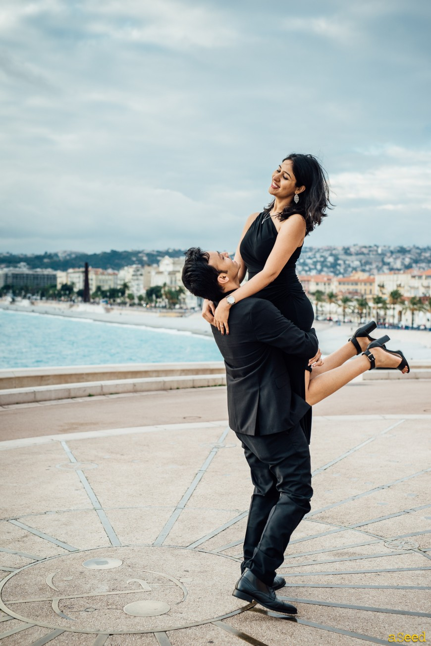 Photographe pour couple  / séance photo engagement à Nice