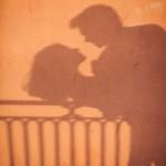 Silhouette ombre baiser