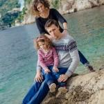 Séance photo de famille à la plage