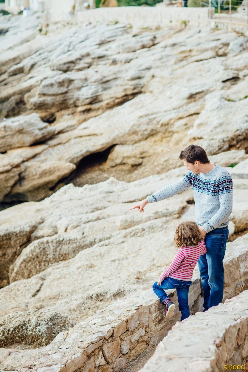 Séance photo famille à la plage