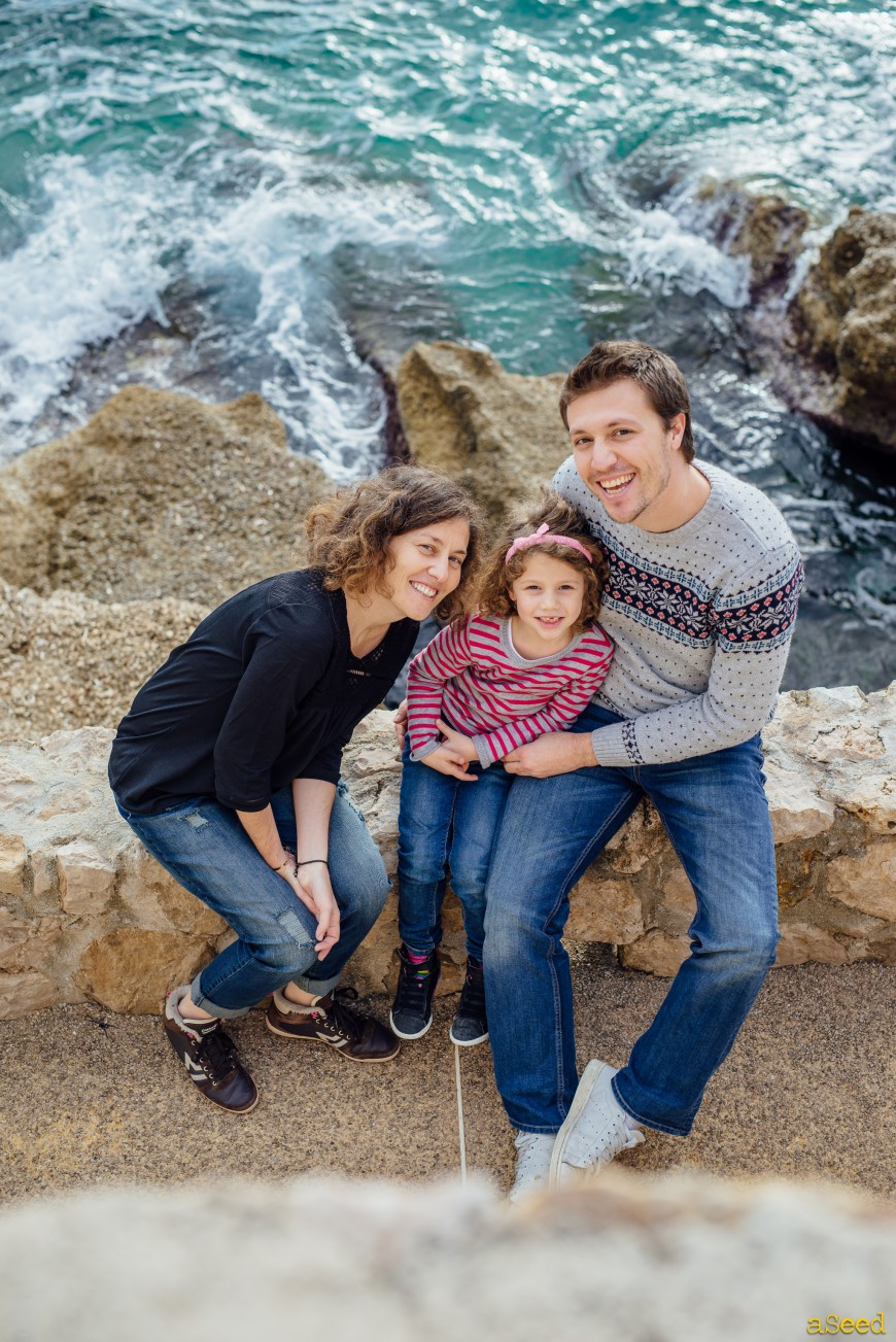 Séance photo famille au bord de mer