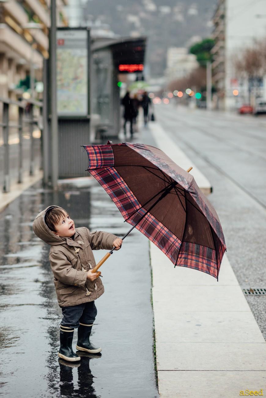L'enfant et la pluie