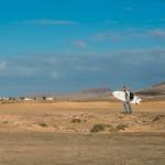Un surfeur perdu El Cotillo Fuerteventura
