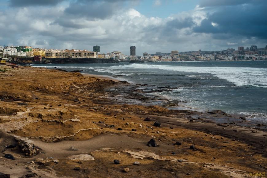 Las Coloradas vue sur Las Palmas, la capitale de l'archipel