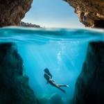 Athena underwater